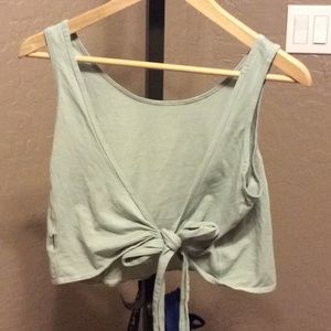 Lululemon tie back crop tank